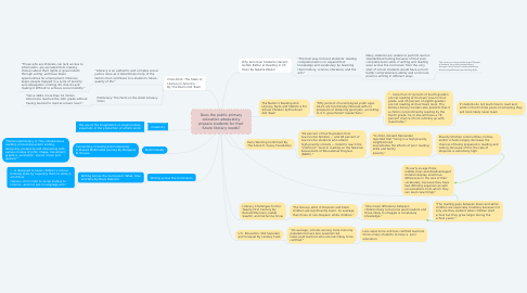 Mind Map: Does the public primary education adequately prepare students for their future literacy needs?