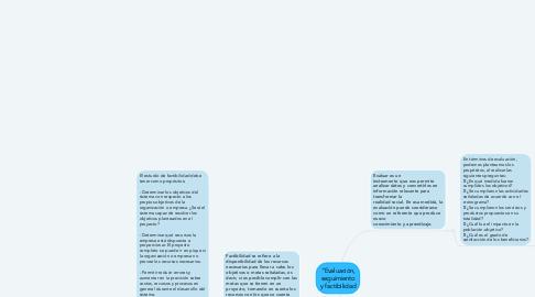 """Mind Map: """"Evaluación, seguimiento y factibilidad"""