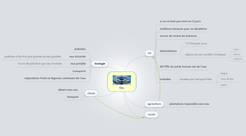 Mind Map: Eau