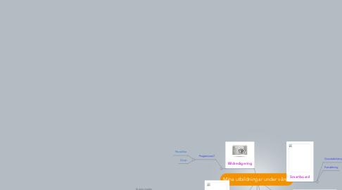 Mind Map: Mina utbildningar under våren
