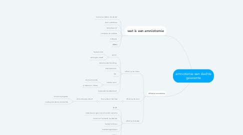 Mind Map: amniotomie een slechte gewoonte