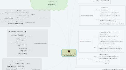 Mind Map: CÁC NGUYÊN TẮC CƠ BẢN Luật Quốc tế hiện đại
