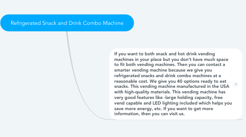 Mind Map: Refrigerated Snack and Drink Combo Machine