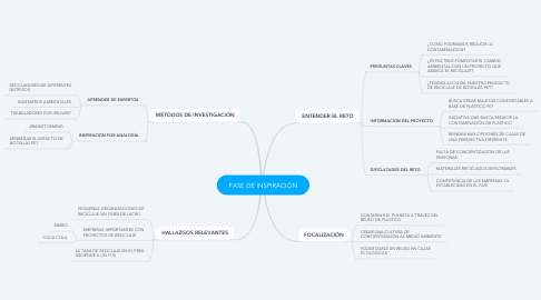 Mind Map: FASE DE INSPIRACIÓN