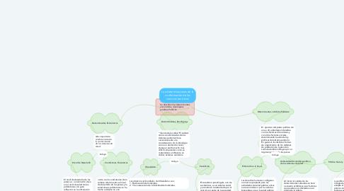 Mind Map: Los determinaciones de la conformación de los servicios sanitarios