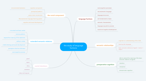 Mind Map: the study of language funtions