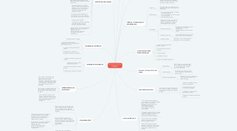 Mind Map: GESTÃO DA TECNOLOGIA E INFORMAÇÃO- 1° BIMESTRE