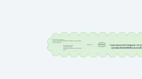 "Mind Map: ""KAN-GNATHOSTOMIASIS ICT-KIT"" ชุดทดสอบโรคพยาธิตัวจี๊ดแบบรวดเร็ว"