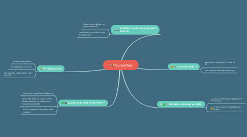 Mind Map: Budgettips