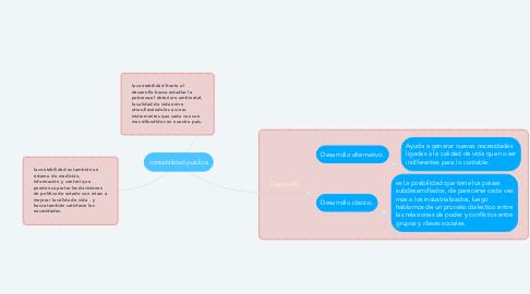 Mind Map: contabilidad publica