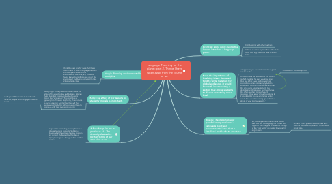 Mind Map: Language Teaching for the planet: part 2. Things I have taken away from the course so far.