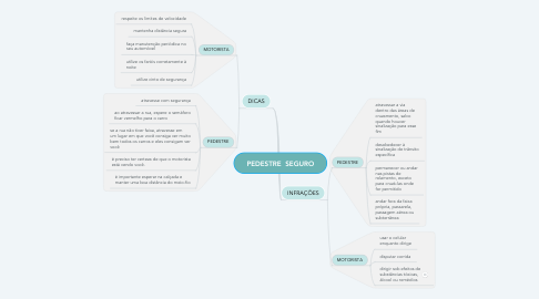 Mind Map: PEDESTRE  SEGURO