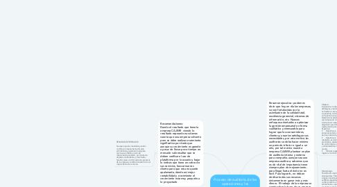 Mind Map: Proceso de auditoría de las operaciones y las comunicaciones digitales en Cajime