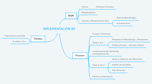 Mind Map: IMPLEMENTACIÓN BS