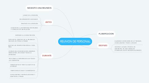 Mind Map: REUNION DE PERSONAL