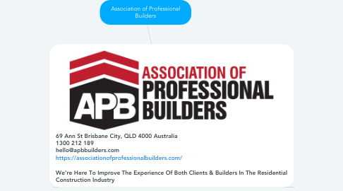Mind Map: Association of Professional Builders