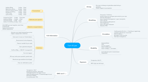 Mind Map: Tom 65 jaar