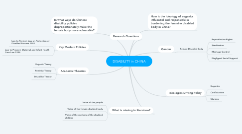 Mind Map: DISABILITY in CHINA