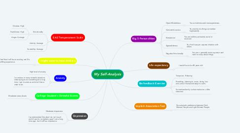 Mind Map: My Self-Analysis
