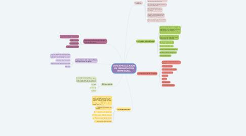 Mind Map: CONCEPTUALIZACIÓN DE ORGANIZACIÓN EMPRESARIAL