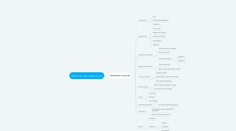 Mind Map: Valoración de competencias
