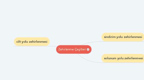 Mind Map: Zehirlenme Çeşitleri