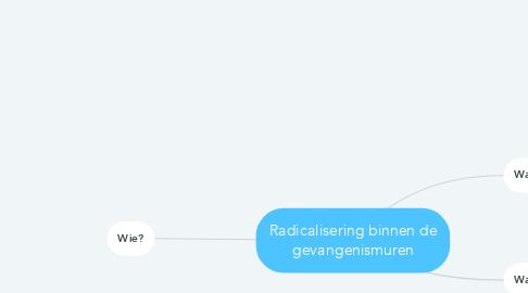 Mind Map: Radicalisering binnen de gevangenismuren