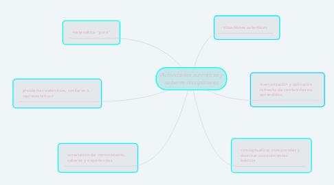 Mind Map: Actividades auténticas y saberes disciplinares