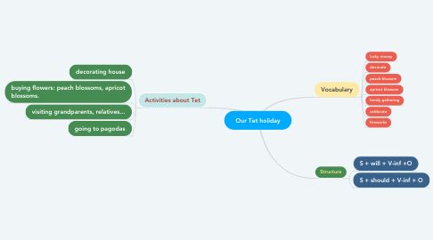 Mind Map: Our Tet holiday