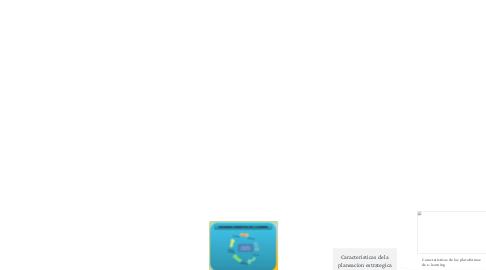 Mind Map: Caracteristicas de la planeacion estrategica