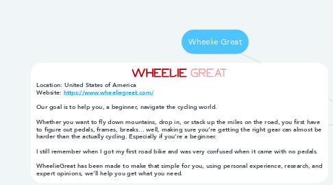 Mind Map: Wheelie Great