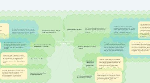 Mind Map: Programas de Salud en la Caja del Seguro Social