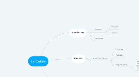 Mind Map: La Célula