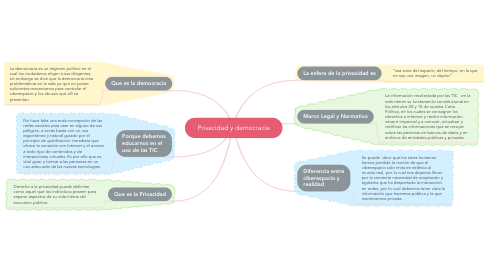 Mind Map: Privacidad y democracia