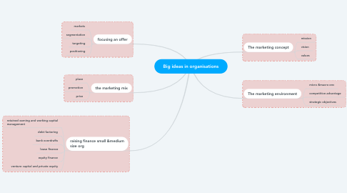 Mind Map: Big ideas in organisations