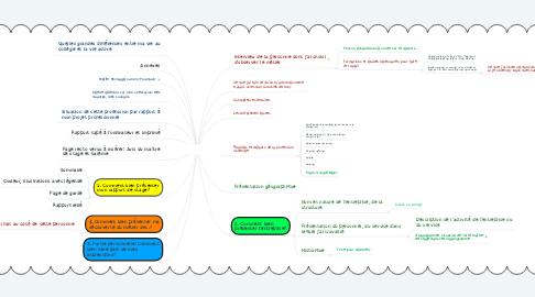 Mind Map: RAPPORT DE STAGE