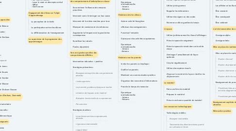 Mind Map: Les composantes de la gestion de classe