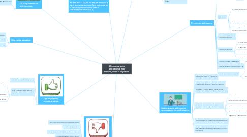 Mind Map: Использование веб-квестов при дистанционном обучение.