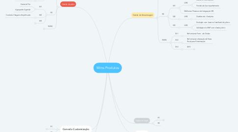 Mind Map: Wms Produtos