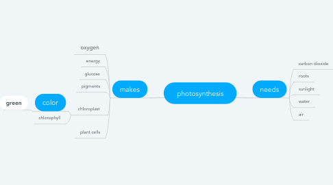 Mind Map: photosynthesis
