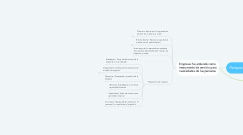 Mind Map: Perspectiva empresarial