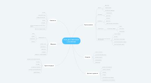 Mind Map: РОЖДЕСТВЕНСКОЕ СЛУЖЕНИЕ