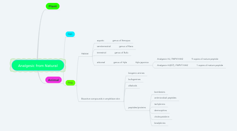 Mind Map: Analgesic from Natural