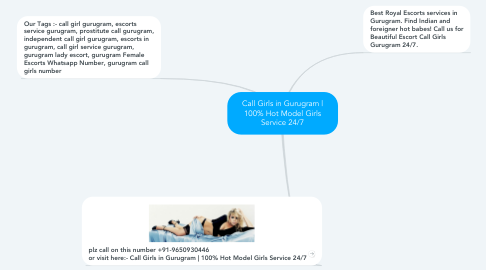 Mind Map: Call Girls in Gurugram | 100% Hot Model Girls Service 24/7