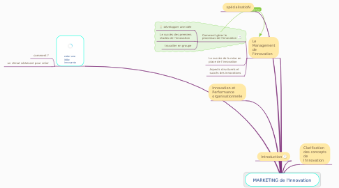 Mind Map: MARKETING de l'Innovation