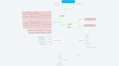 Mind Map: quick repair workflow erp