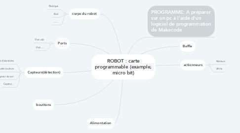 Mind Map: ROBOT : carte programmable (example; micro bit)