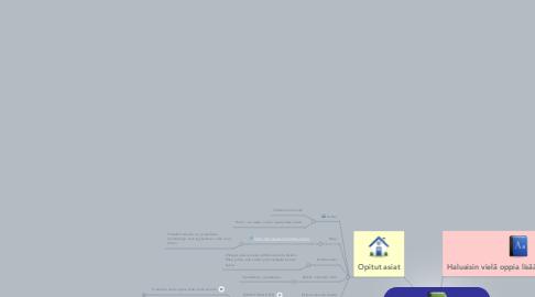 Mind Map: Minä verkko-oppijana ja tulevana verkko-opettajana