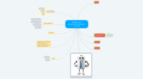Mind Map: ROBOT carte programmable (exemple : micro:bit)