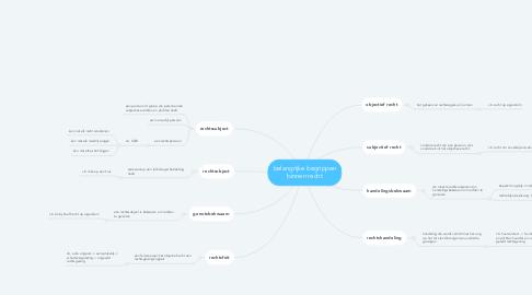 Mind Map: belangrijke begrippen binnen recht